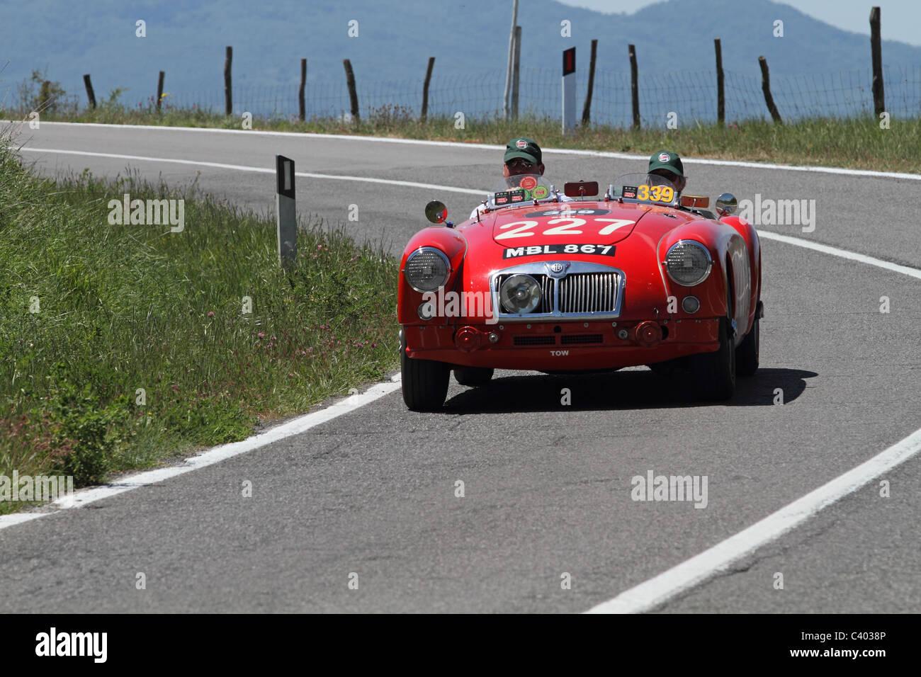 Mille Miglia 2011 MGA Stockbild