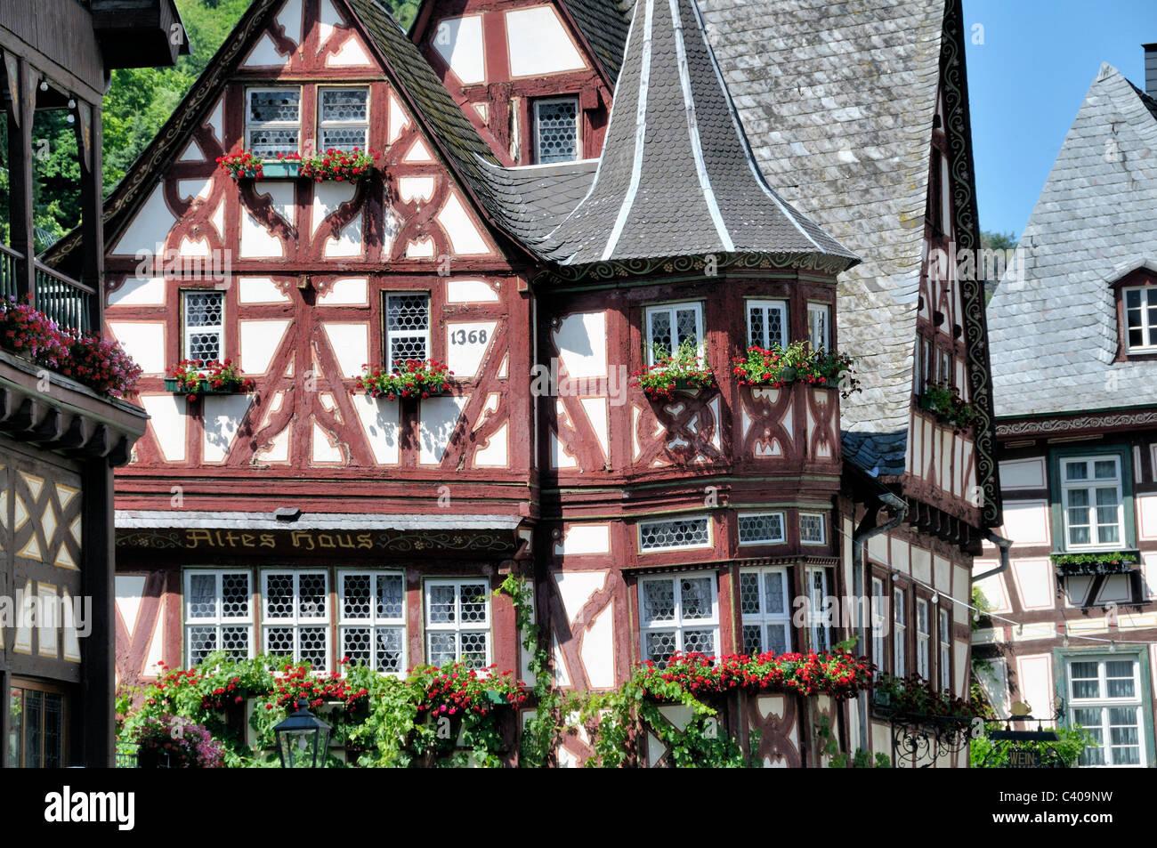 1368 alt bacharach deutschland europa fachwerk h user. Black Bedroom Furniture Sets. Home Design Ideas