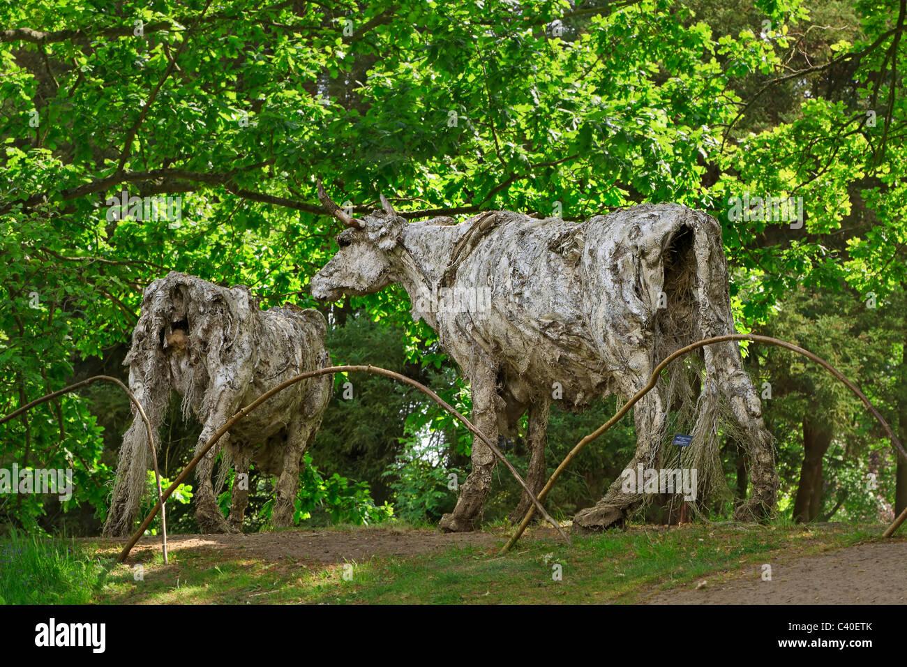 Zeitgenössische Skulptur Garten Burghley House Moderne Skulptur Von