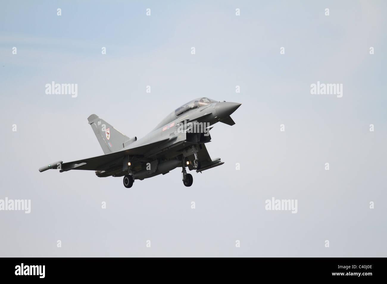 Eurofighter Typhoon Jagdflugzeug detailliert Stockbild