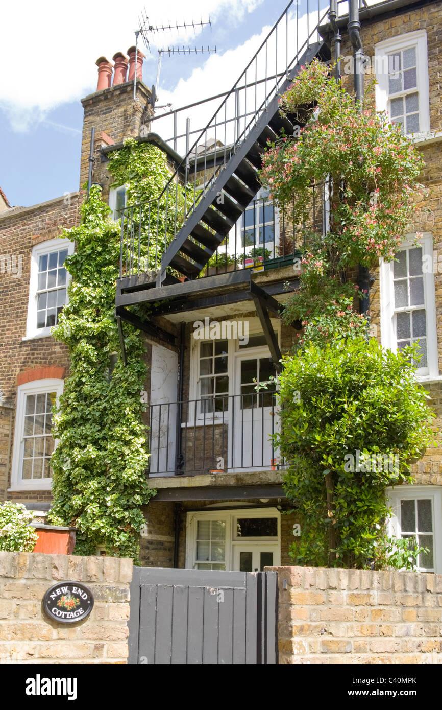 London Hampstead Dorf Neue Ende Ferienhaus Reihenhaus Mit Eisen