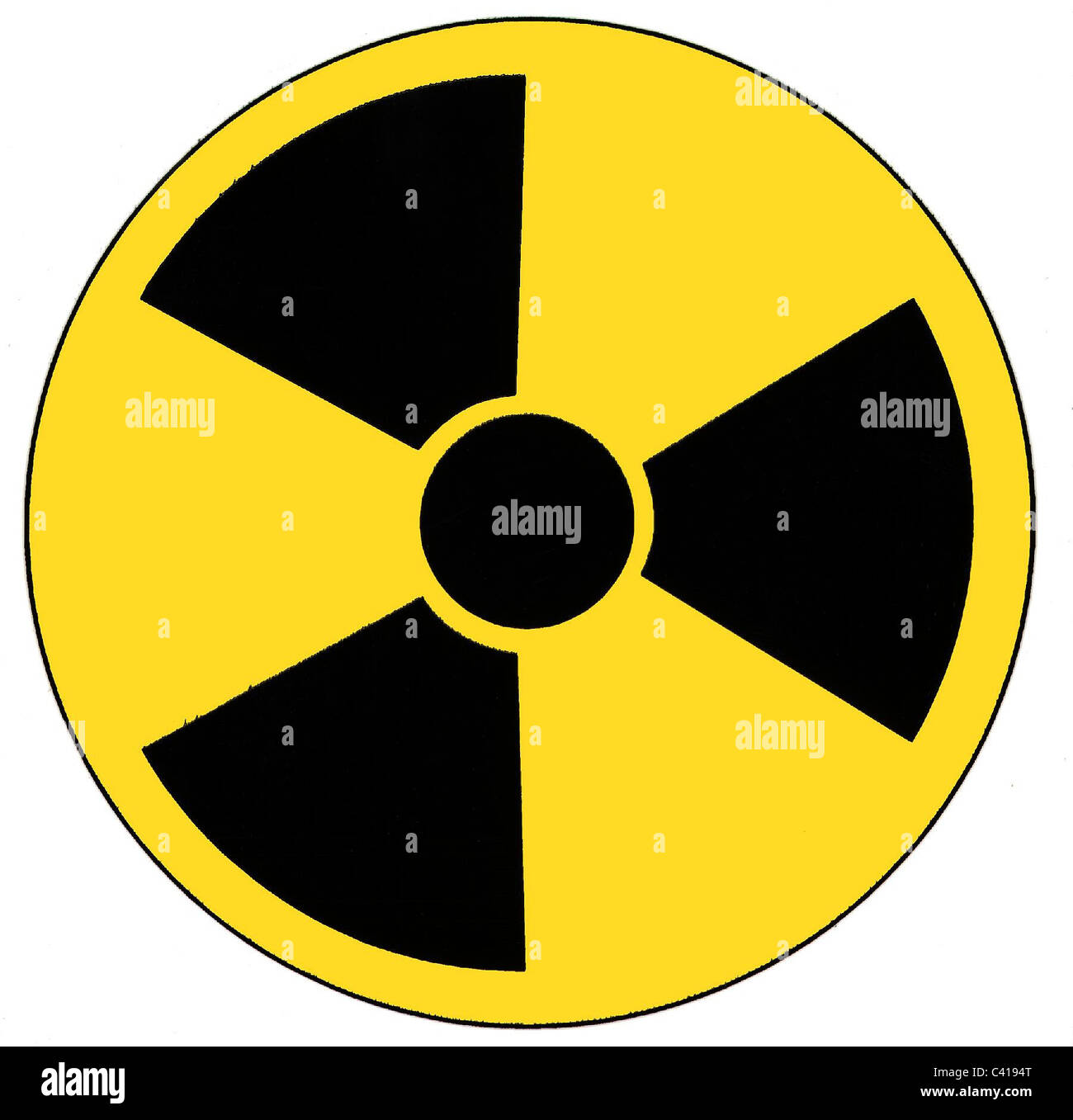 Symbol, Radioaktivität, Computergrafik, Additional-Rights - Clearences-NA Stockbild