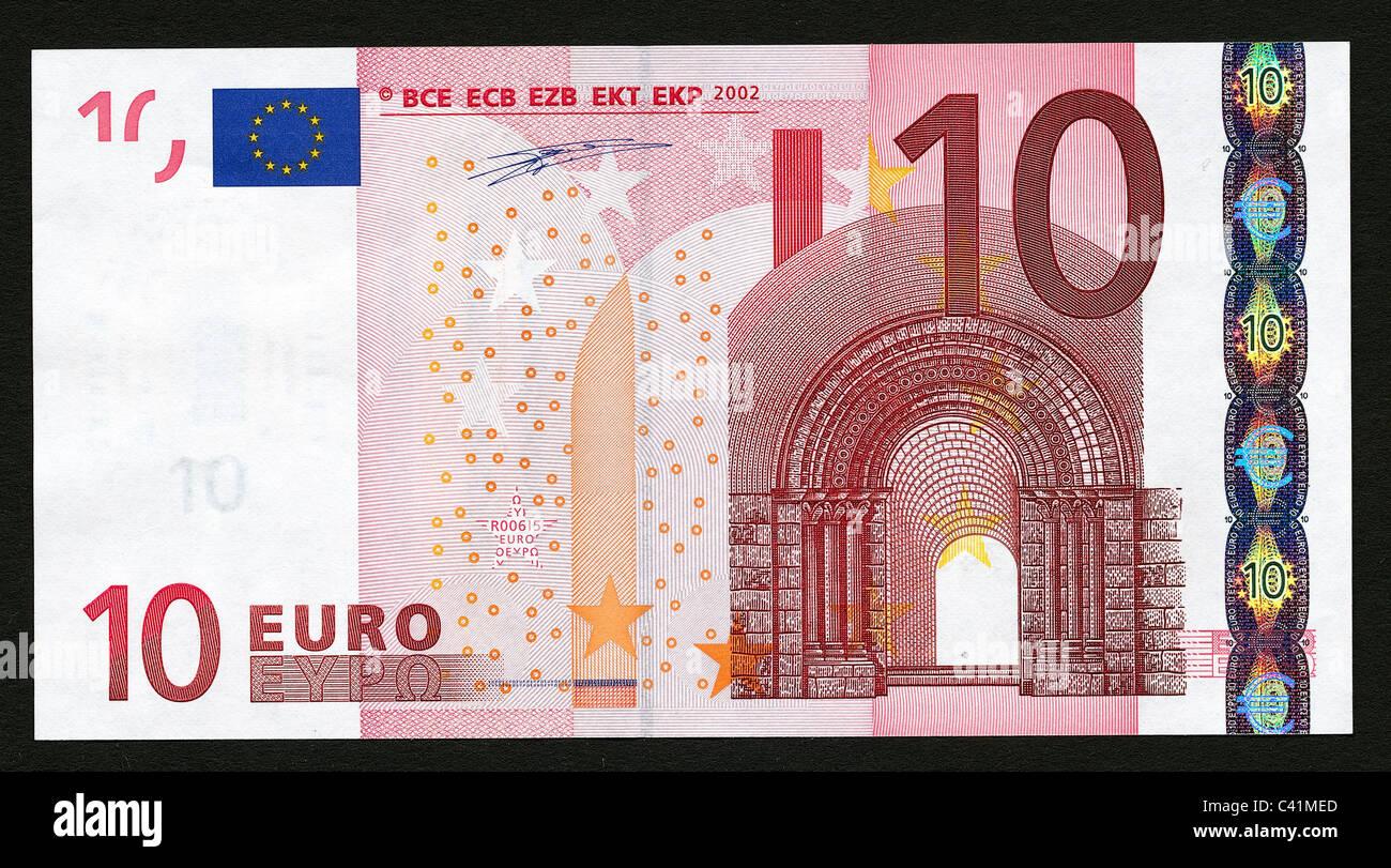 geld banknoten euro 10 euro schein vorderseite. Black Bedroom Furniture Sets. Home Design Ideas