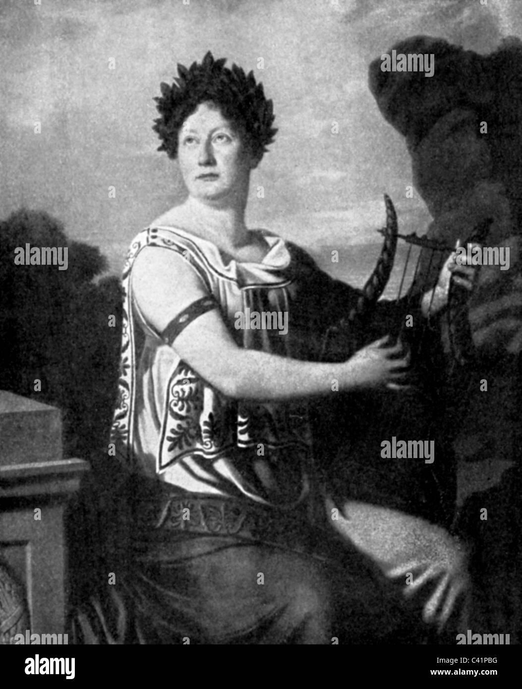 Jagemann, Karoline, 25.1.1777 - 10.7.1848, deutsche Schauspielerin und Sängerin, die Hälfte der Länge, wie Sappho, Stockfoto