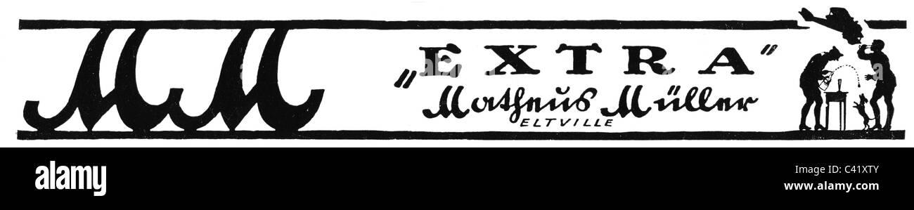 Werbung, Getränke, Sekt, MM Extra, Matheus Müller Weingut, Eltville ...