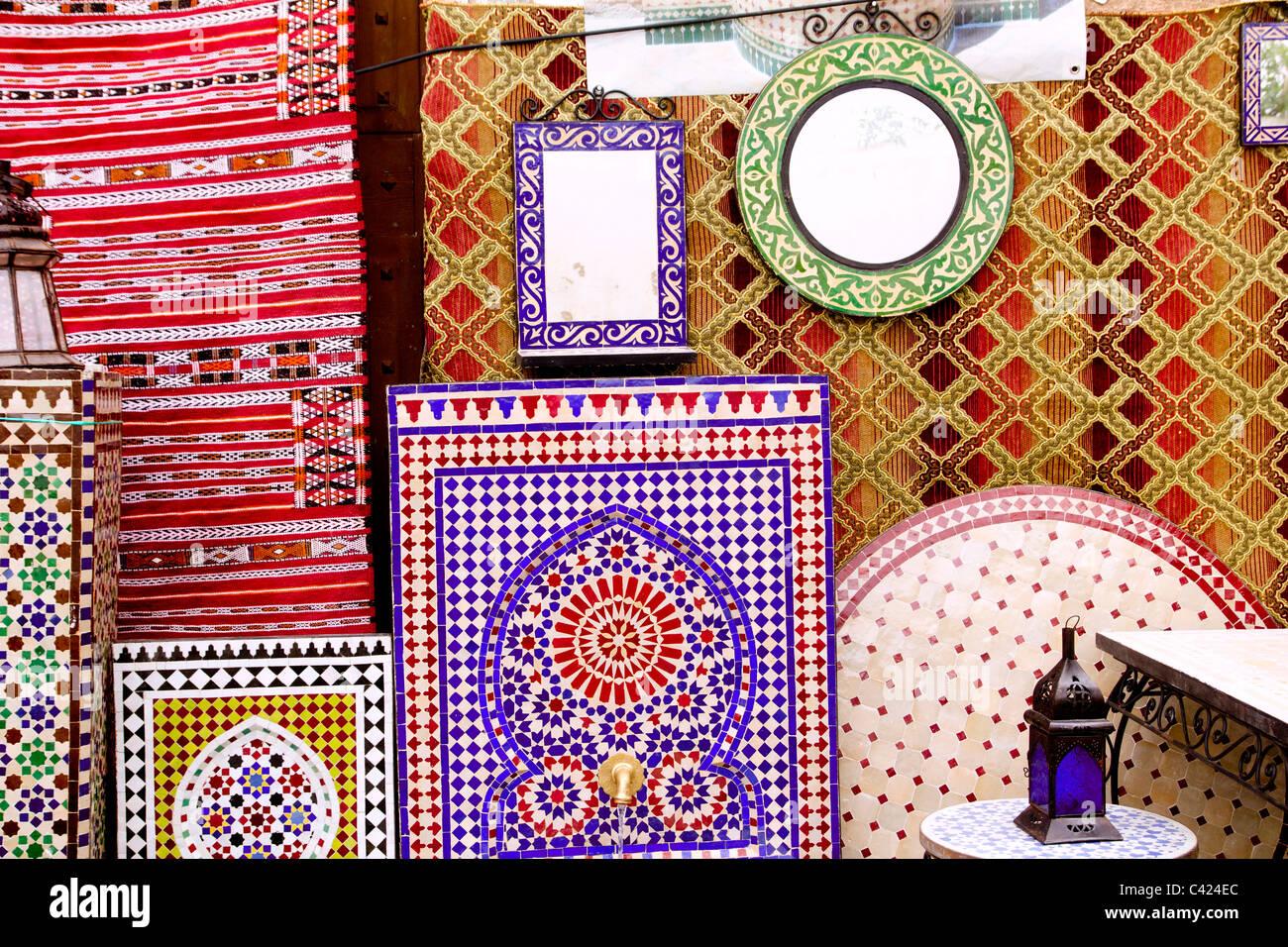 Arabische Deko Mosaikfliesen Und Stoff Dekoration Mediterrane