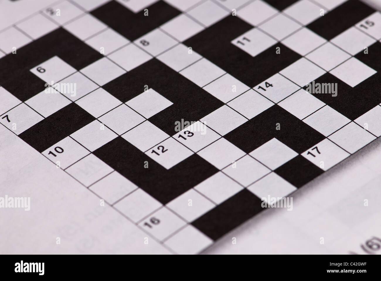 Kreuzworträtsel-Raster Stockbild