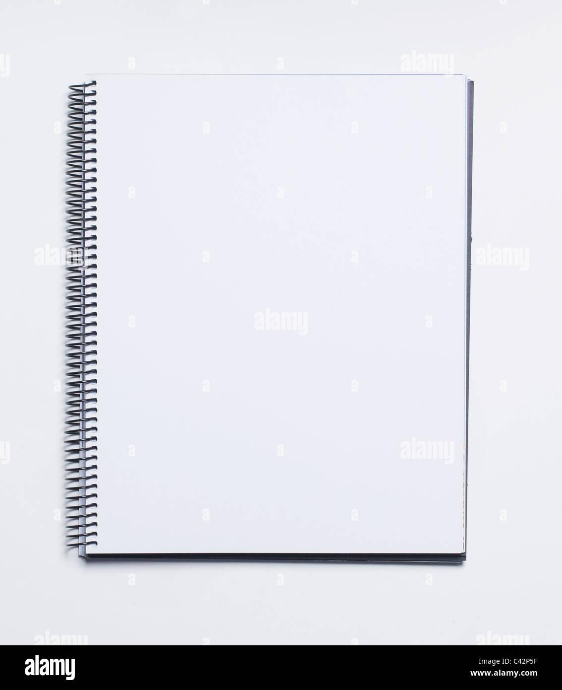 Leere notebook Stockfoto