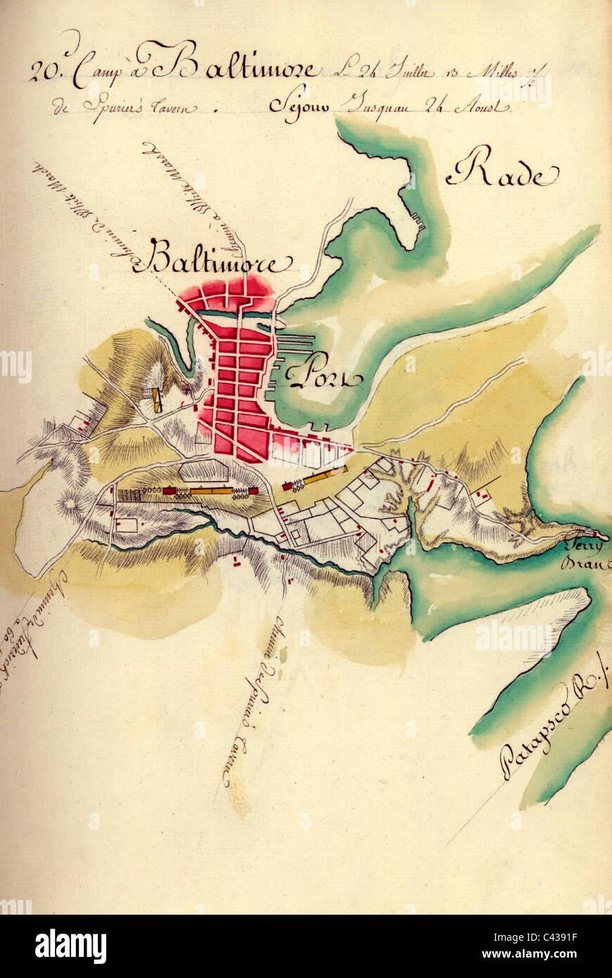 Karte Des Lagers In Baltimore Maryland In Den Usa Revolutionarer