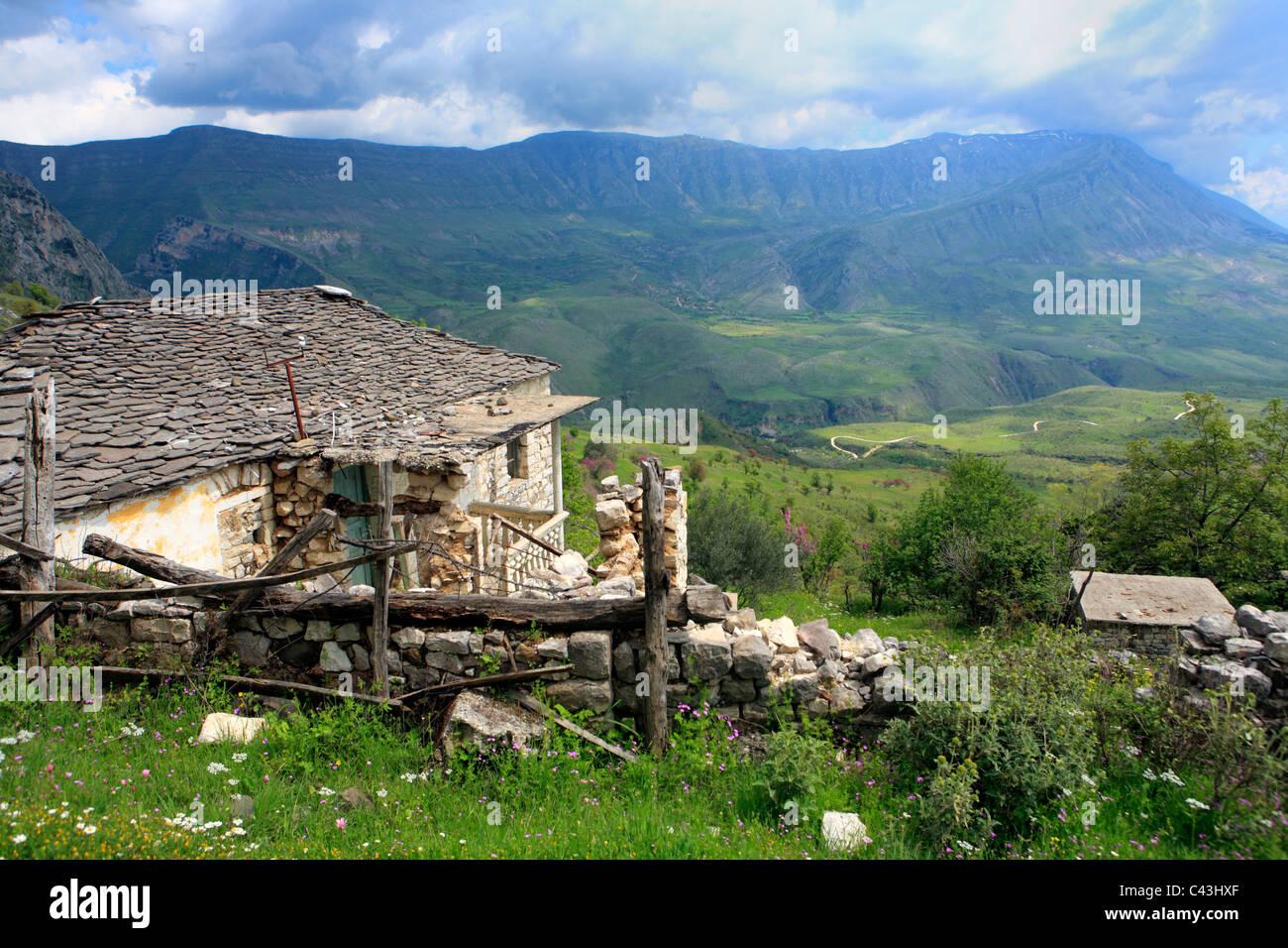 Albanien, Balkan, Mitteleuropa, Osteuropa, europäische, Südeuropa, Reiseziele, Berg, Berge, Berg, Mo Stockbild