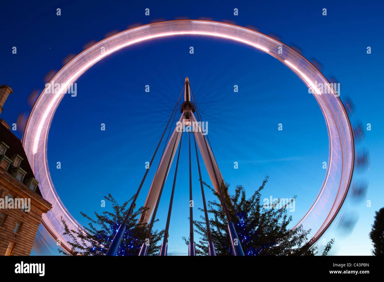 London Eye; London; England Stockbild