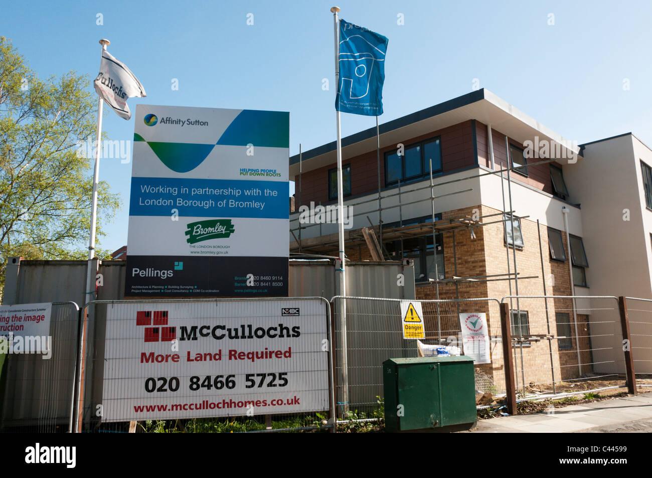 Eine Wohnsiedlung für Affinität Sutton in Süd-London Stockbild