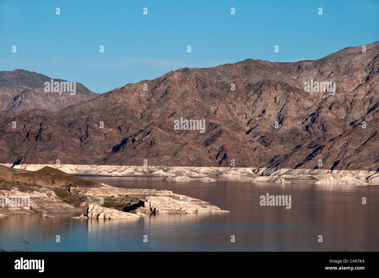 Badewanne ring, Lake Mead, See, Dürre, Nevada, März, Landschaft, USA, Nordamerika, Amerika Stockbild