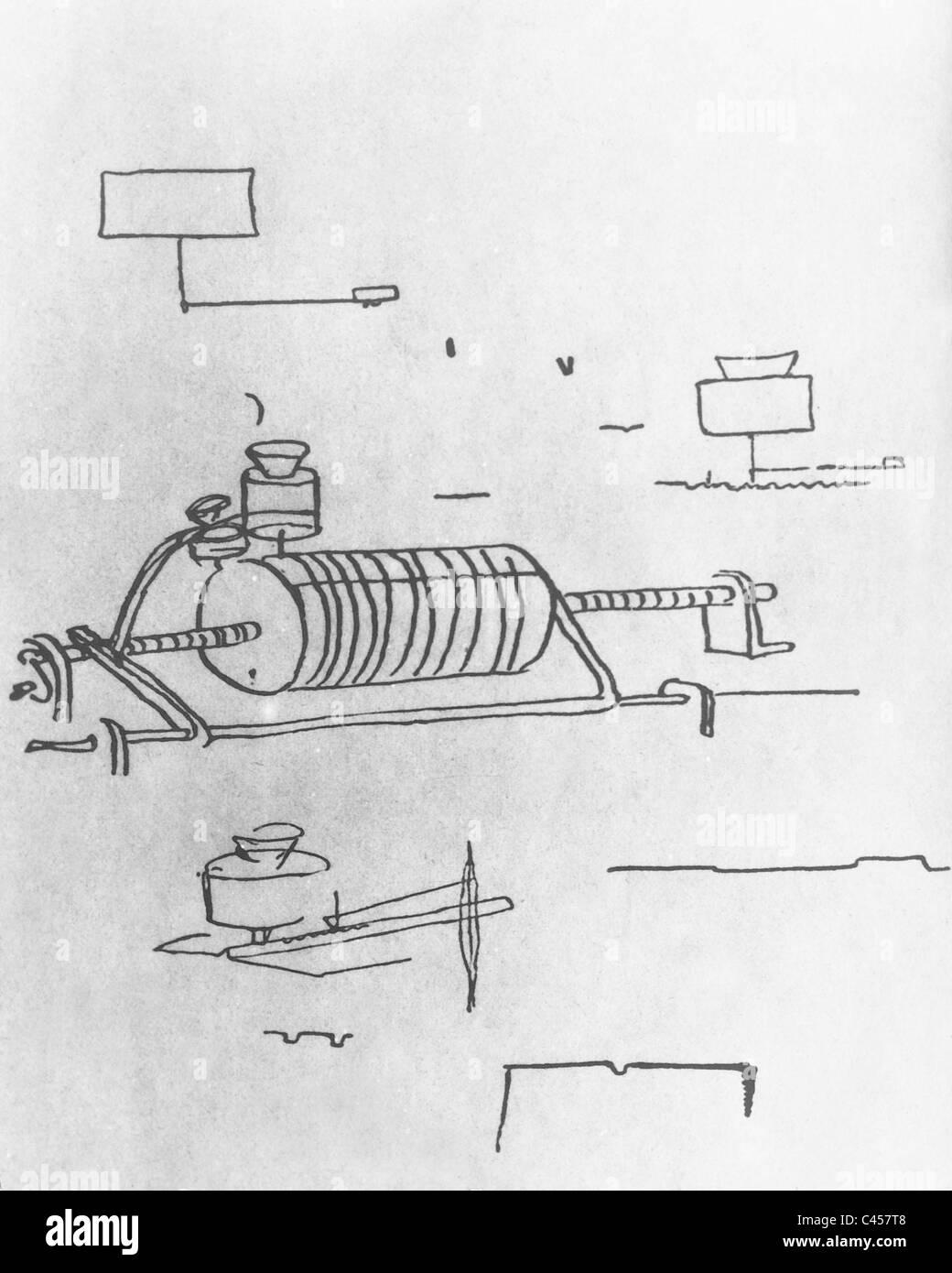 Bau-Skizze von Alva Stockfoto, Bild: 36995288 - Alamy