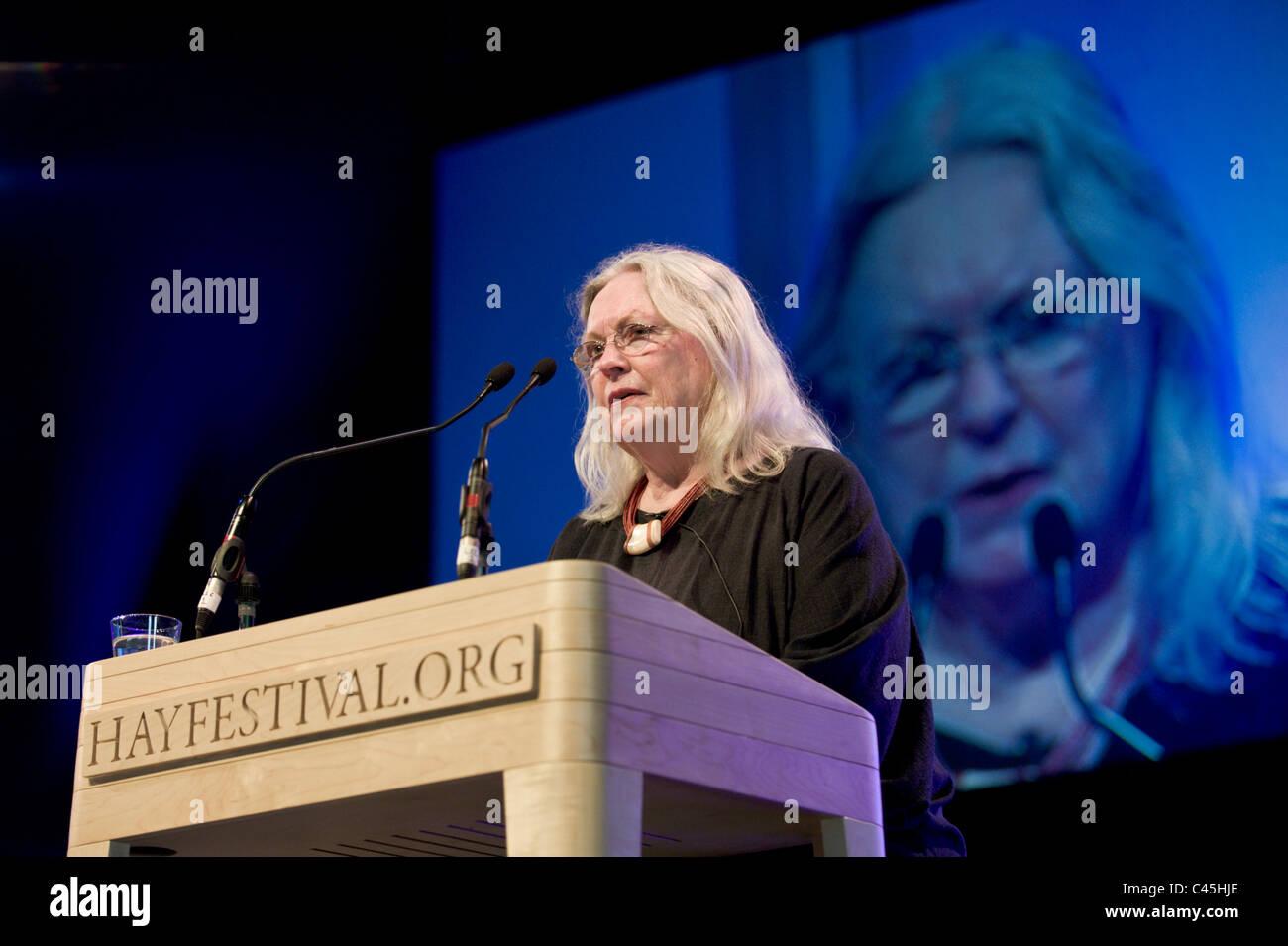 Gillian Clarke National Poet of Wales abgebildet bei Hay Festival 2011 Stockbild