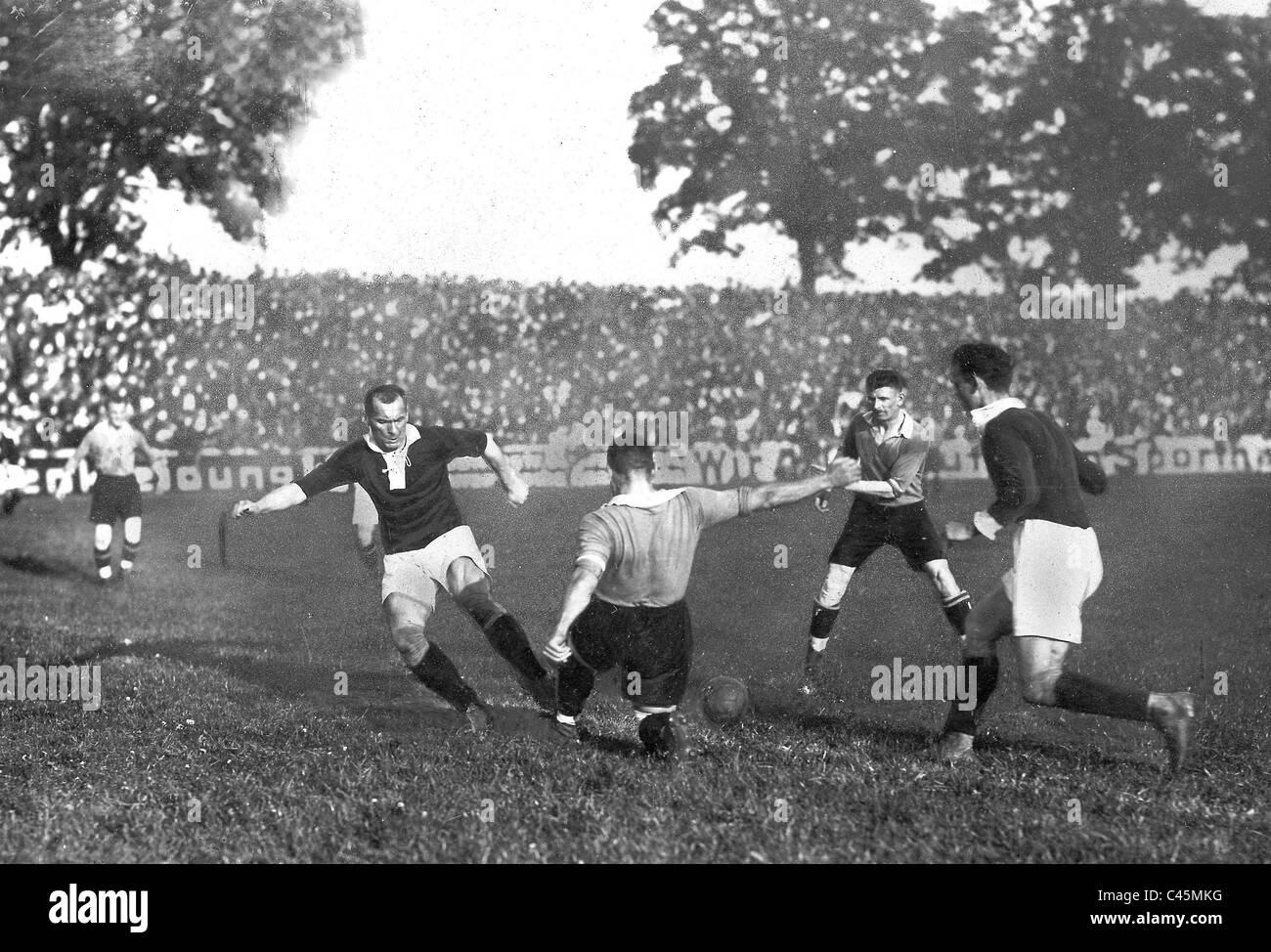1. FC. Nürnberg gegen Sparta Prag, 1922 Stockbild