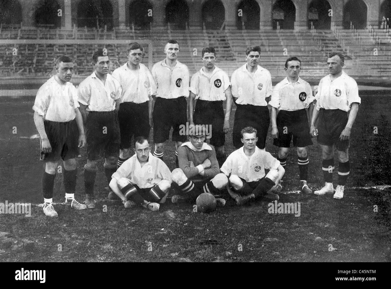 Team des 1. FC. Nürnberg, 1919 Stockbild