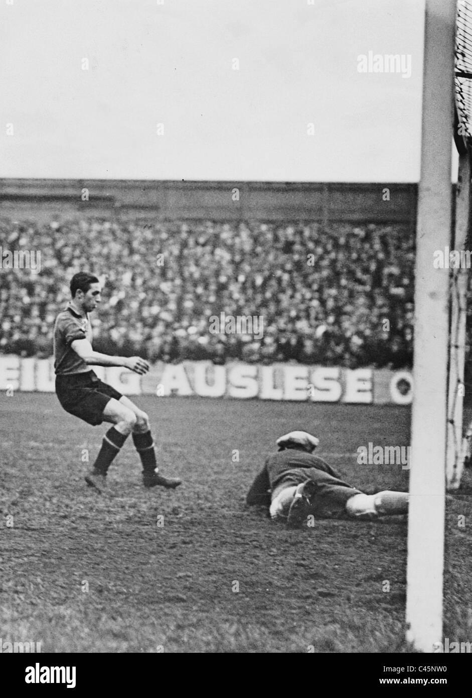 Hertha BSC Berlin gegen den 1. FC Nürnberg, 1931 Stockbild
