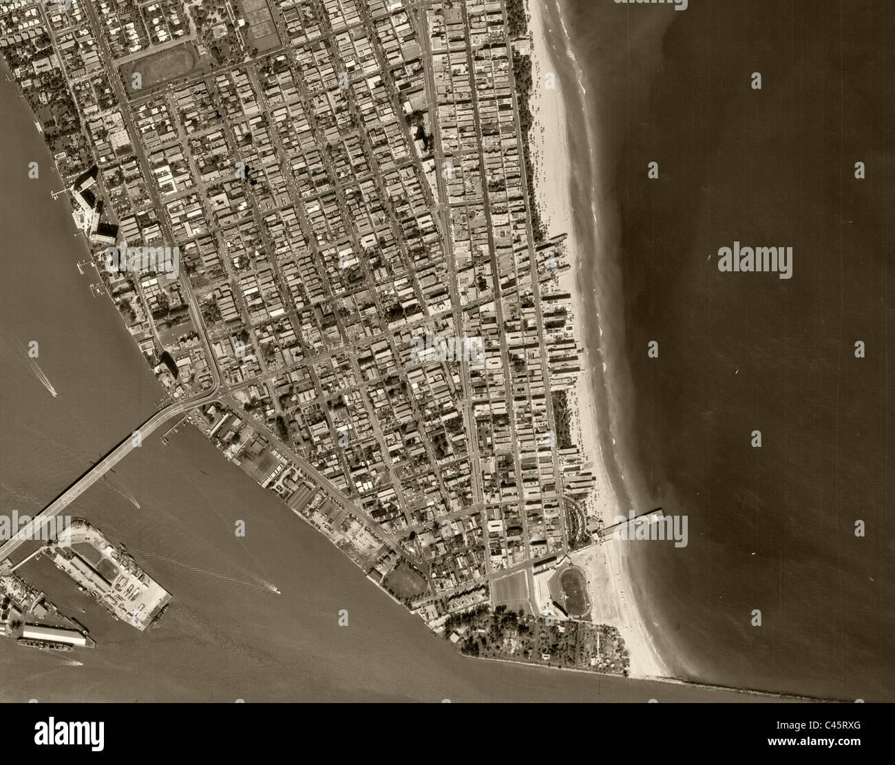 historische luftaufnahme kartenansicht south beach miami