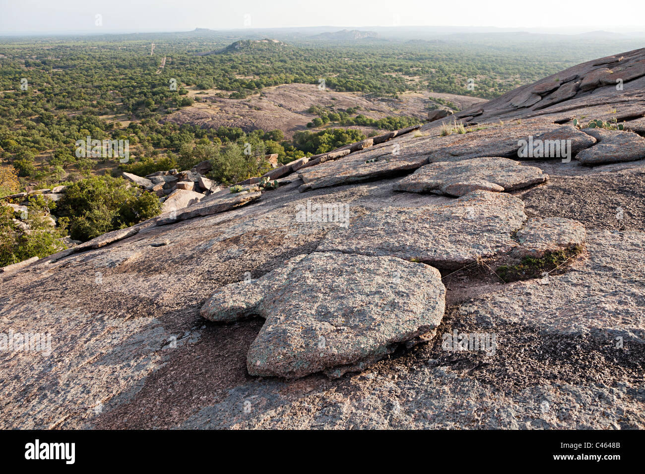 Verwitterter Granit Enchanted Rock State Natural Area Texas USA Stockbild