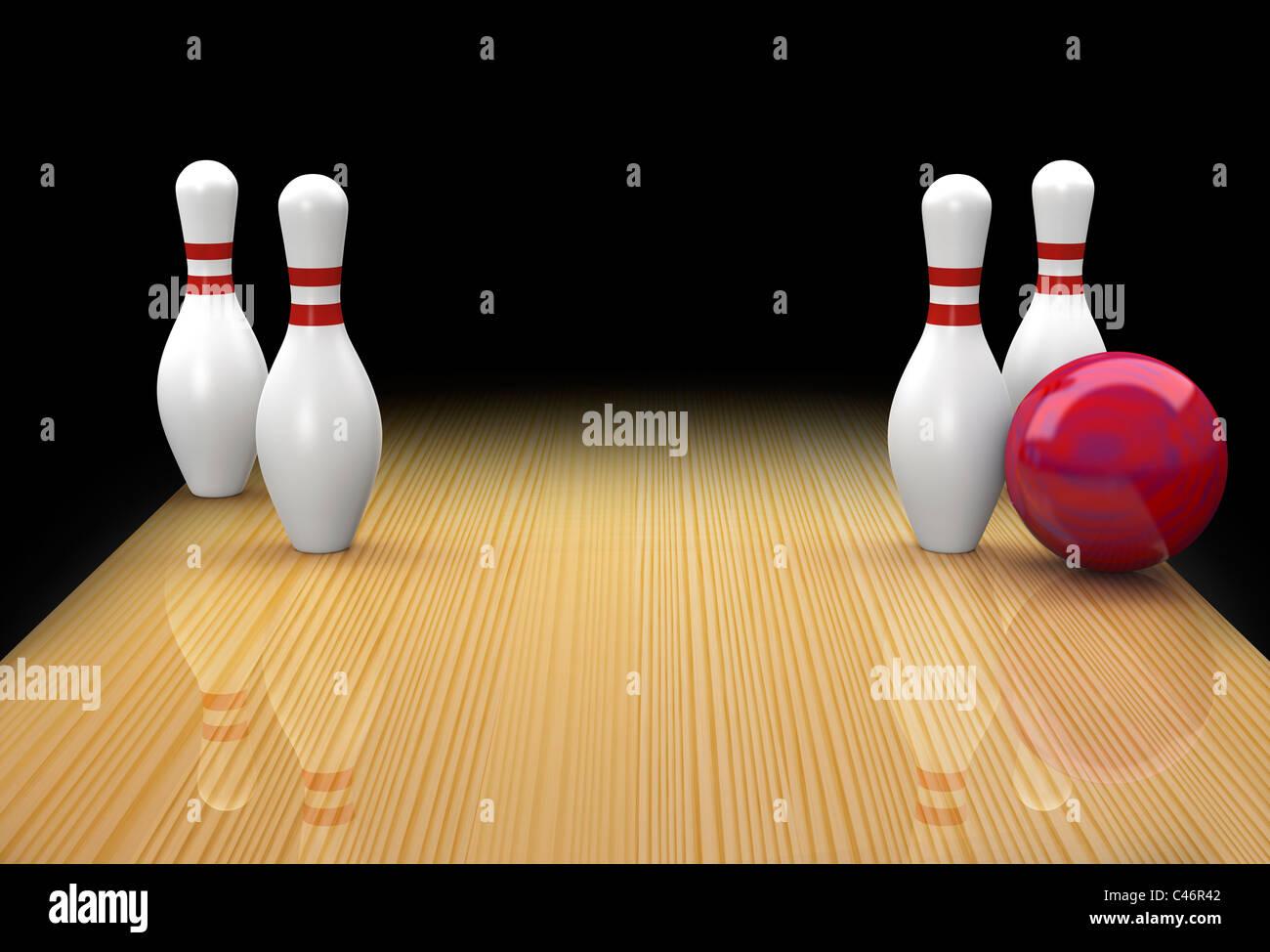Ten pin Bowling Split oder Ersatzteile Ohrenanlegen oder Big Four ...