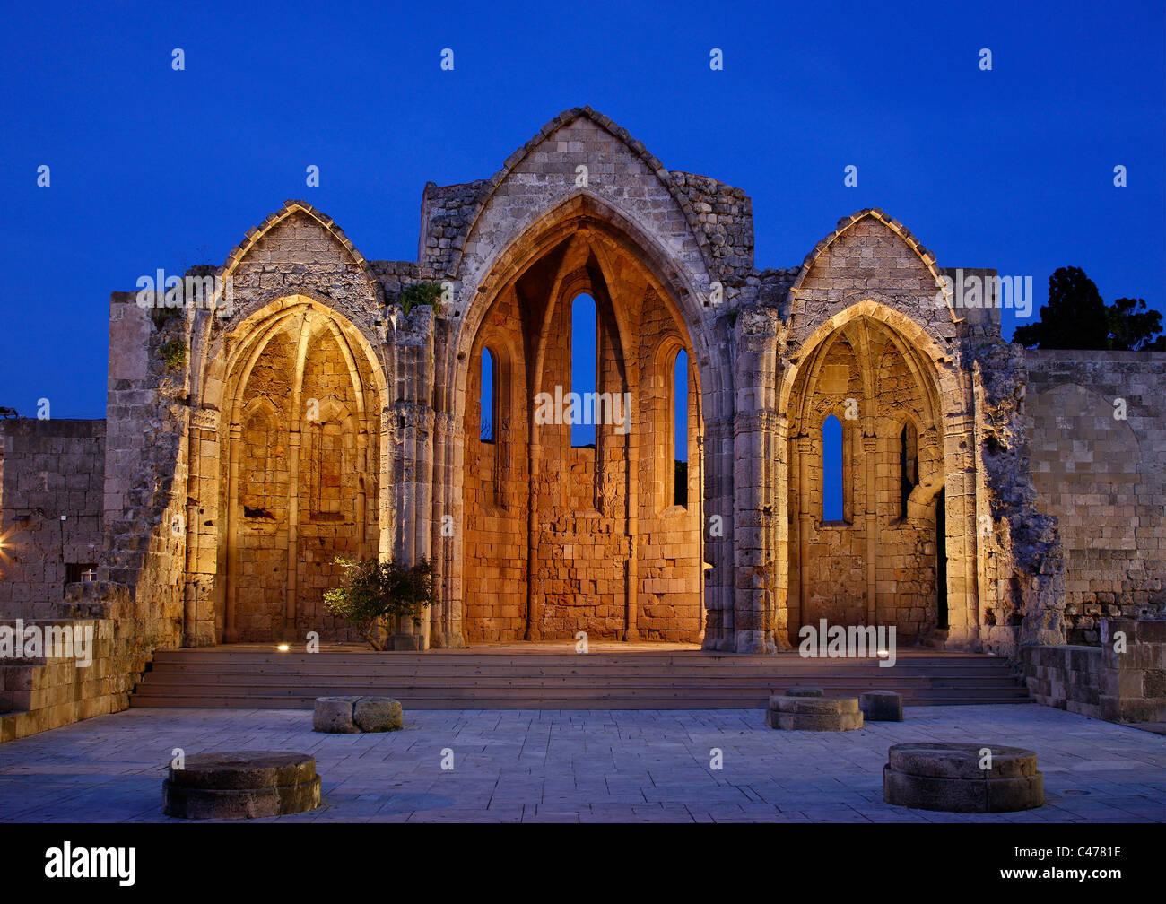 """Die Überreste der """"Panagia Tou Bourgou"""" (""""unserer lieben Frau von der Burgh"""") Kirche in Stockbild"""