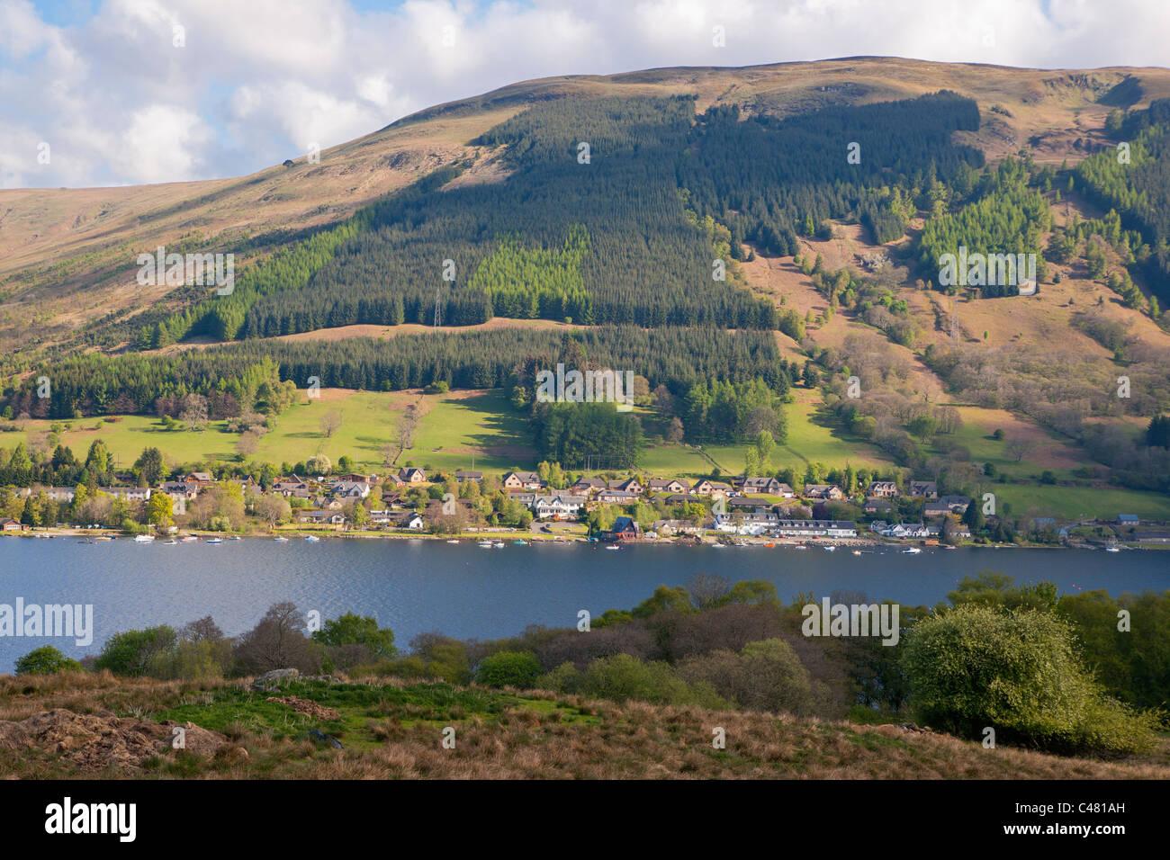 Lochearnhead, Loch verdienen, Stirlingshire, Schottland, UK Stockbild