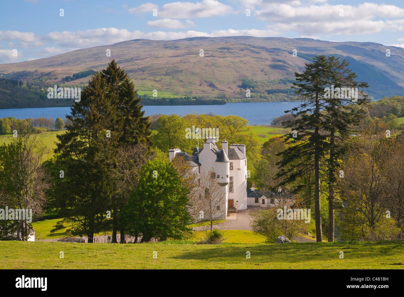 Edinample, Burg, Lochearnhead, Loch verdienen, Stirlingshire, Schottland, UK Stockbild
