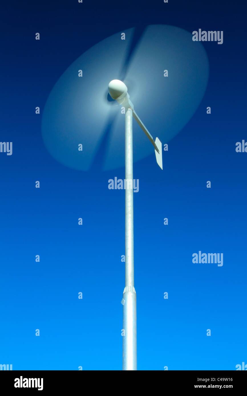 Inländischen Windkraftanlage Stockbild