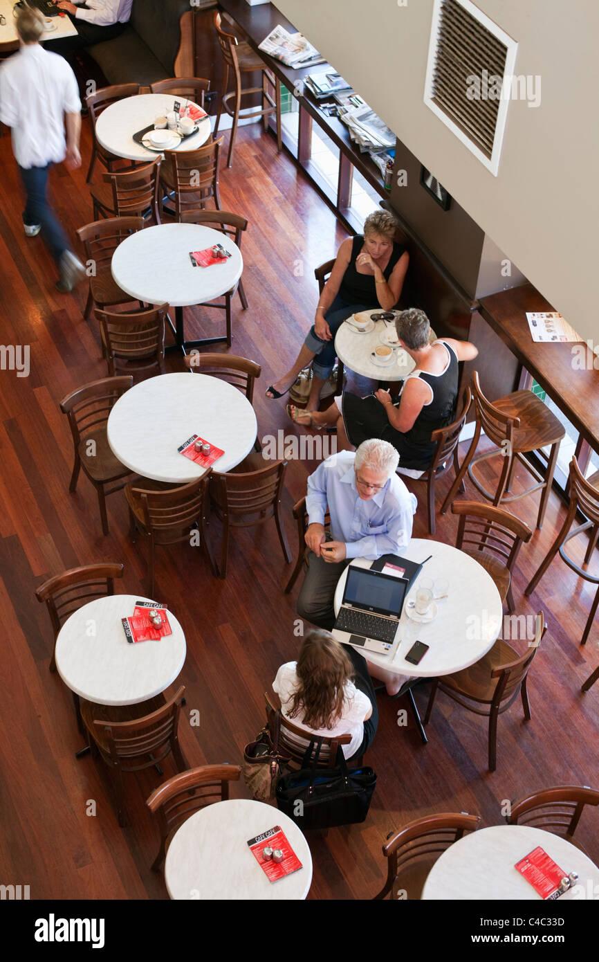 Café Café in Subiaco, Perth, Western Australia, Australien Stockbild