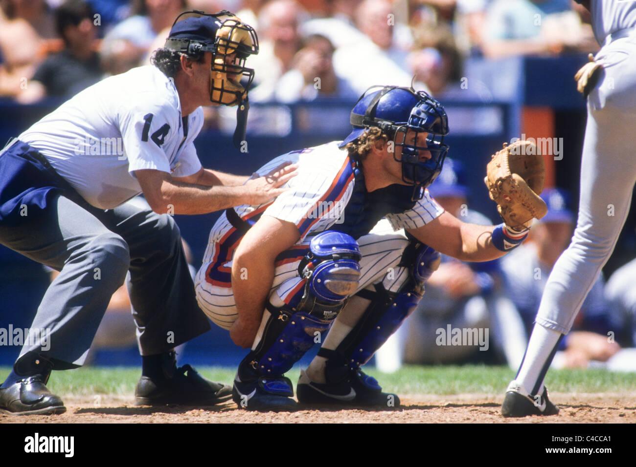 Gary Carter spielen bei den New York Mets. Stockbild