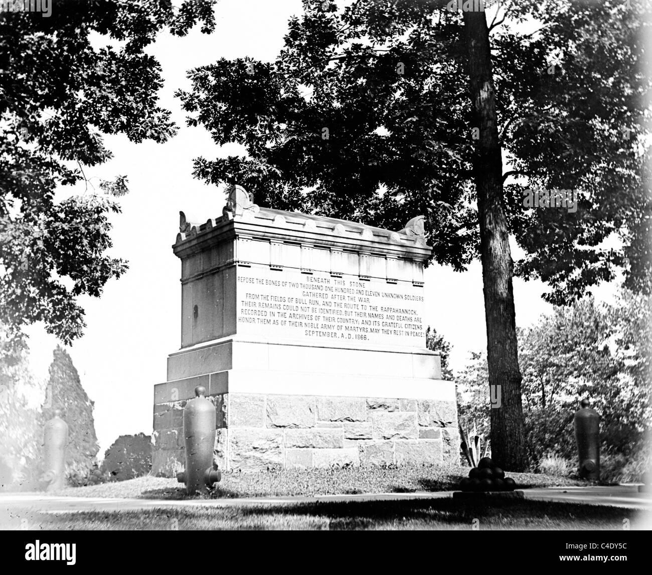Grab des unbekannten des Bürgerkriegs Stockbild