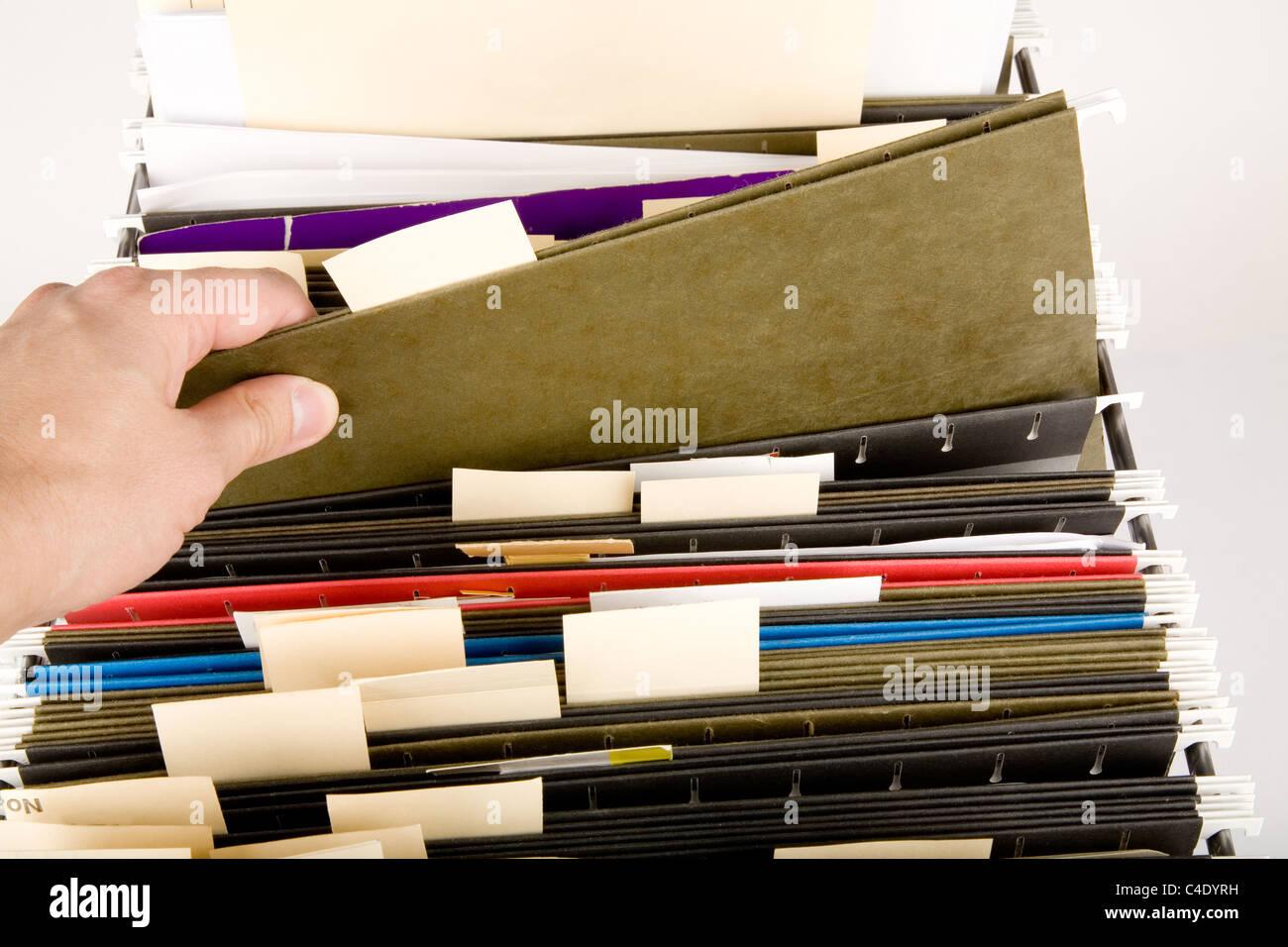 Suchen einer Datei, Business-Konzept Stockbild