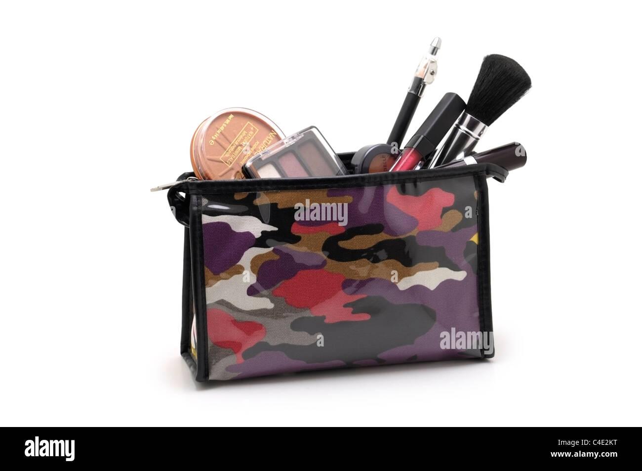Kosmetik, Make-up-Tasche, Tasche mit Kosmetik Stockbild