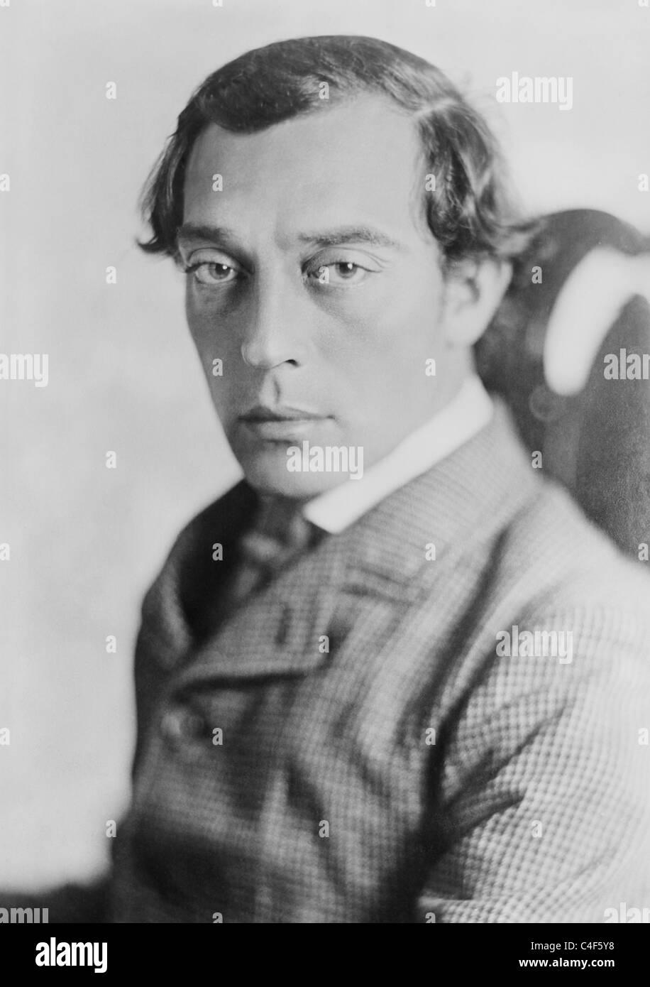 Vintage Portraitfoto ca. 1926 der amerikanische Komiker, Regisseur, Produzent und Drehbuchautor Buster Keaton (1895 Stockbild