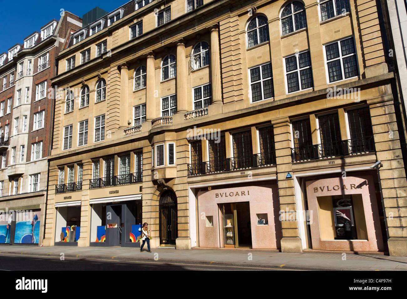Sloane Street, London, UK Stockbild