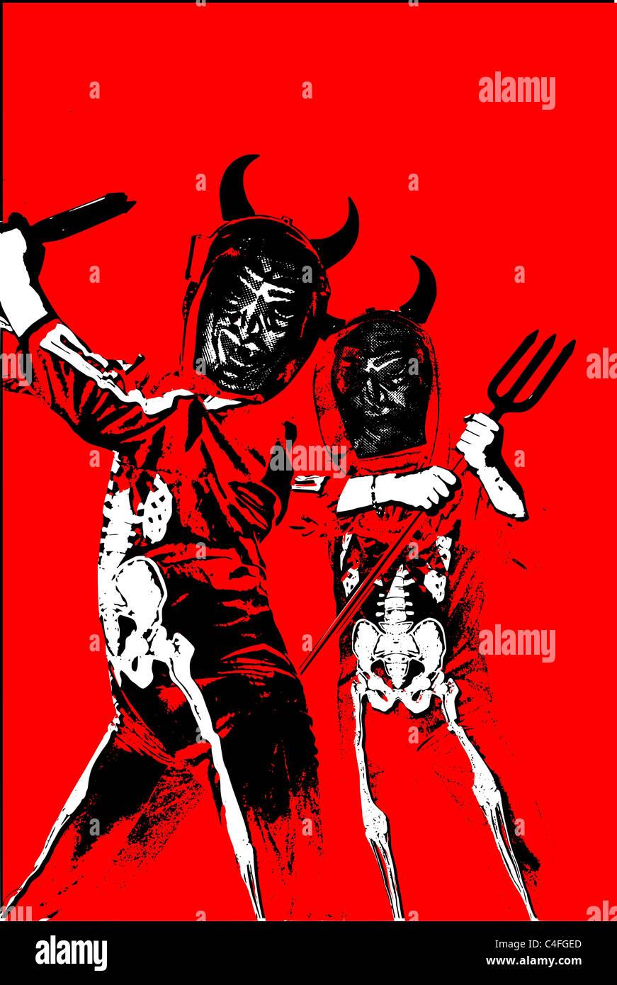 Halloween Teufel Stockbild
