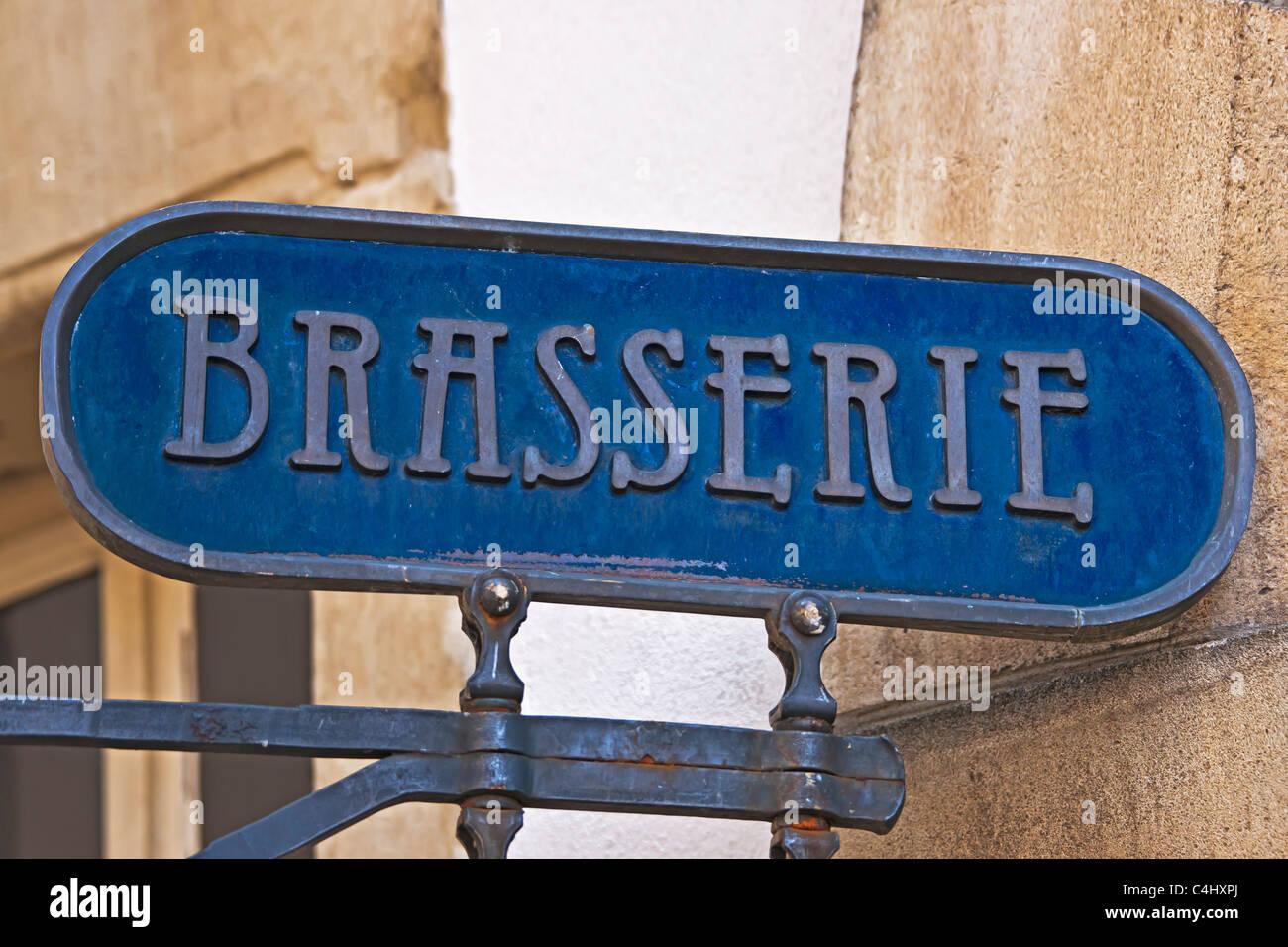 Brasserie Stockbild