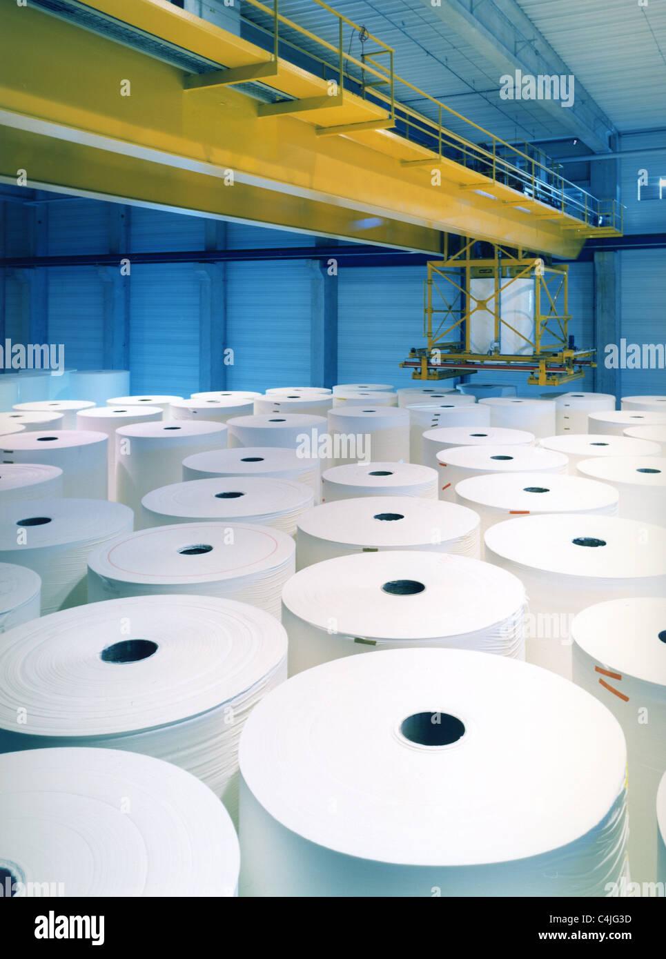 Papierfabrik Stockbild