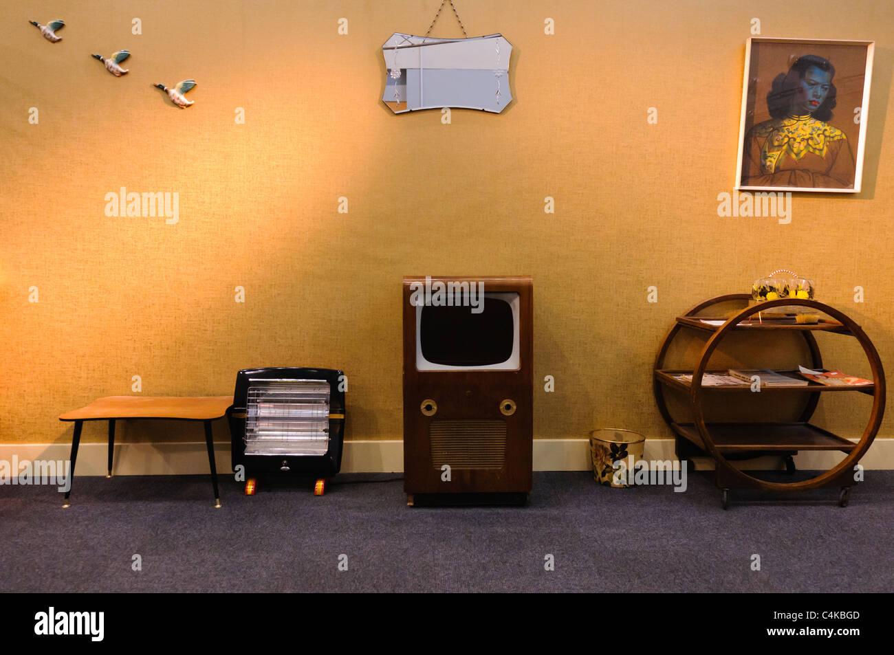 Stilisierte Wohnzimmer aus den 50er / 60er Jahre Stockfoto, Bild ...