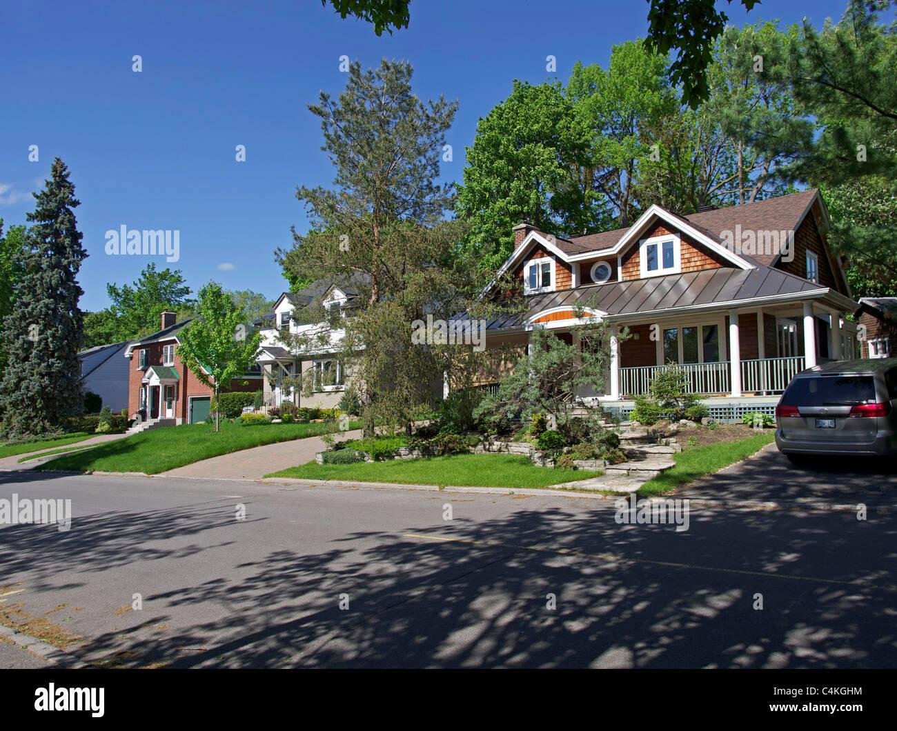 Kanadische Häuser Stockbild