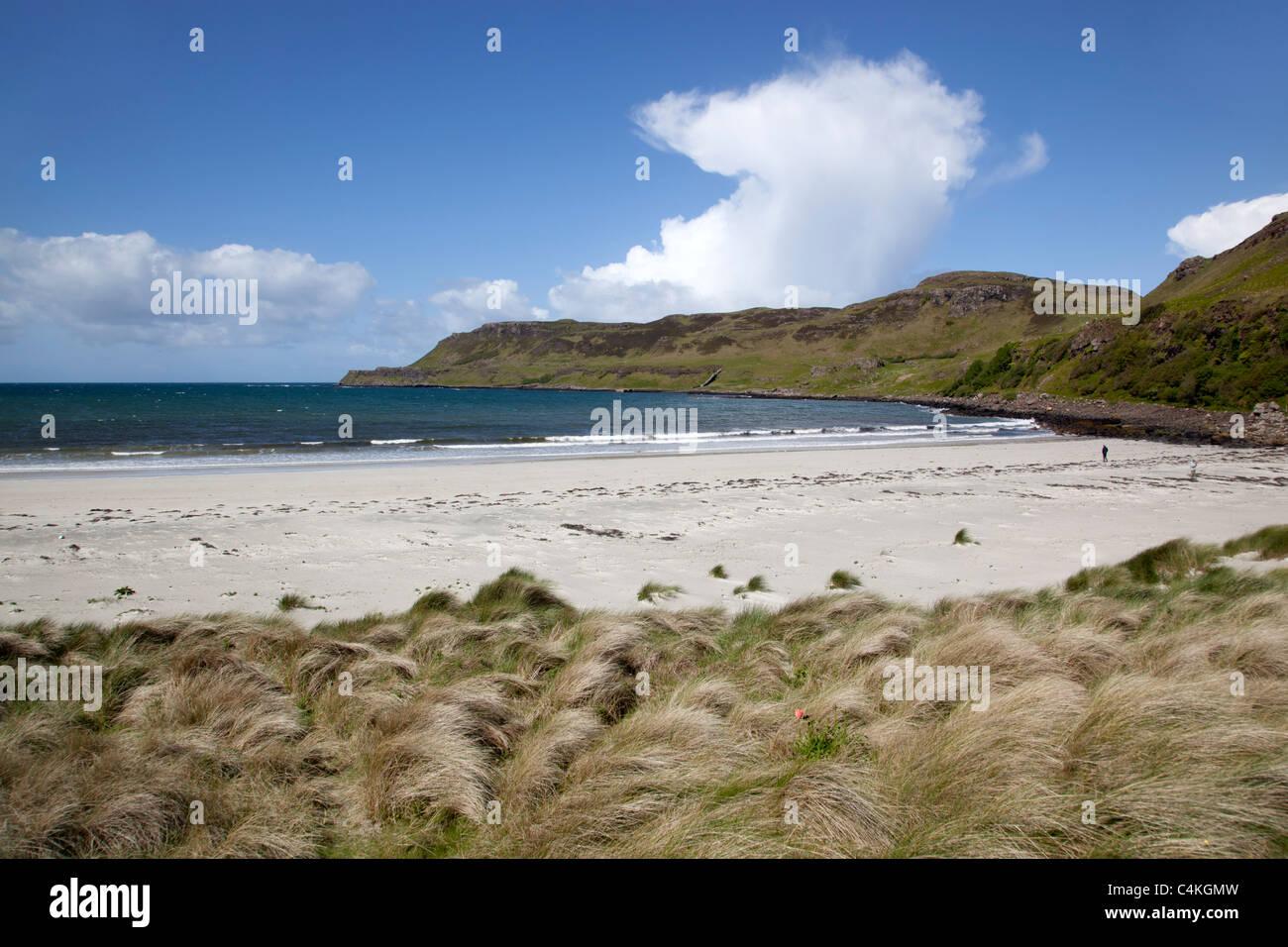 Calgary Bay; Isle of Mull; Schottland Stockbild