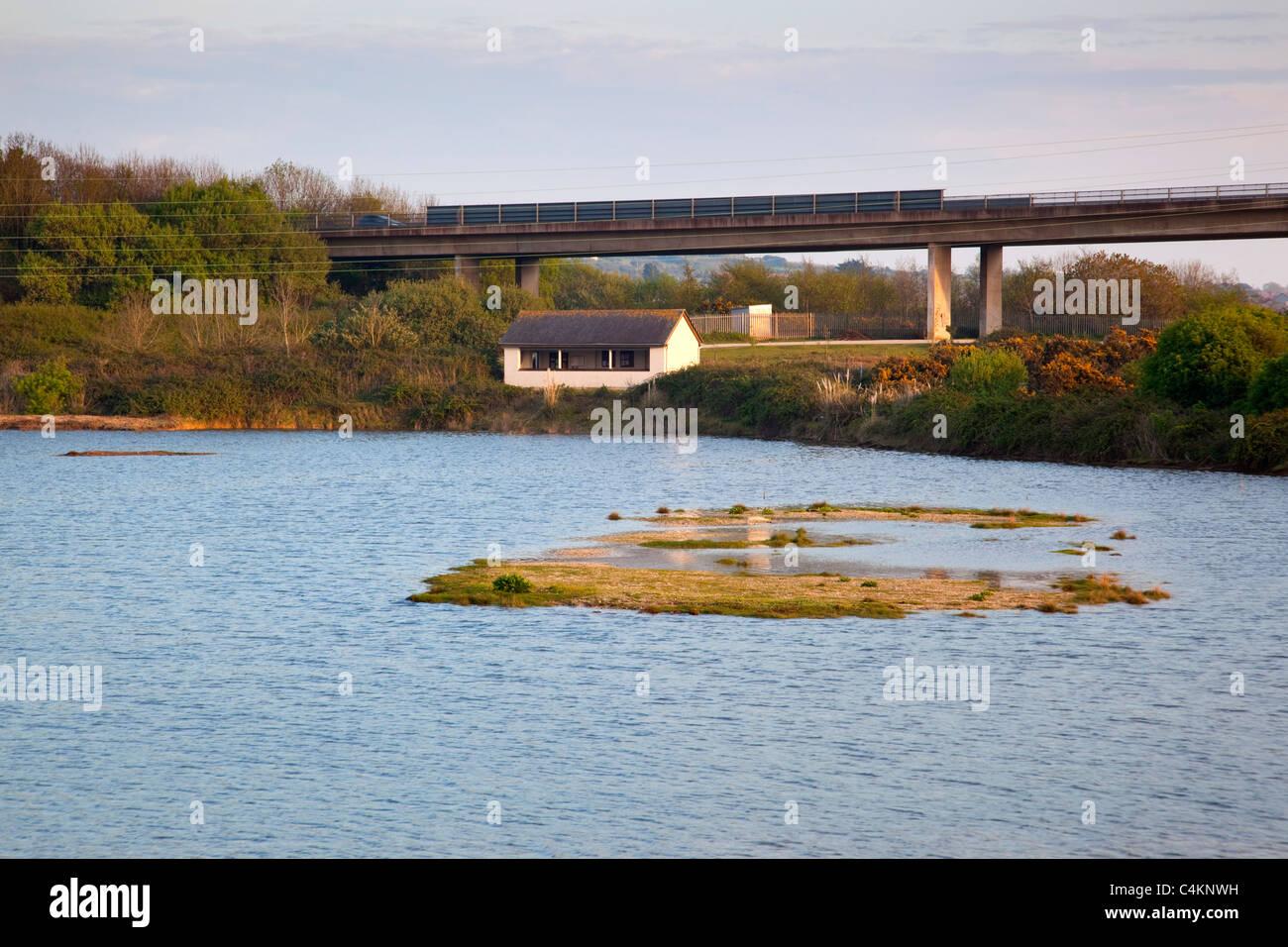 RSPB ausblenden in Hayle; Flut; Cornwall Stockbild