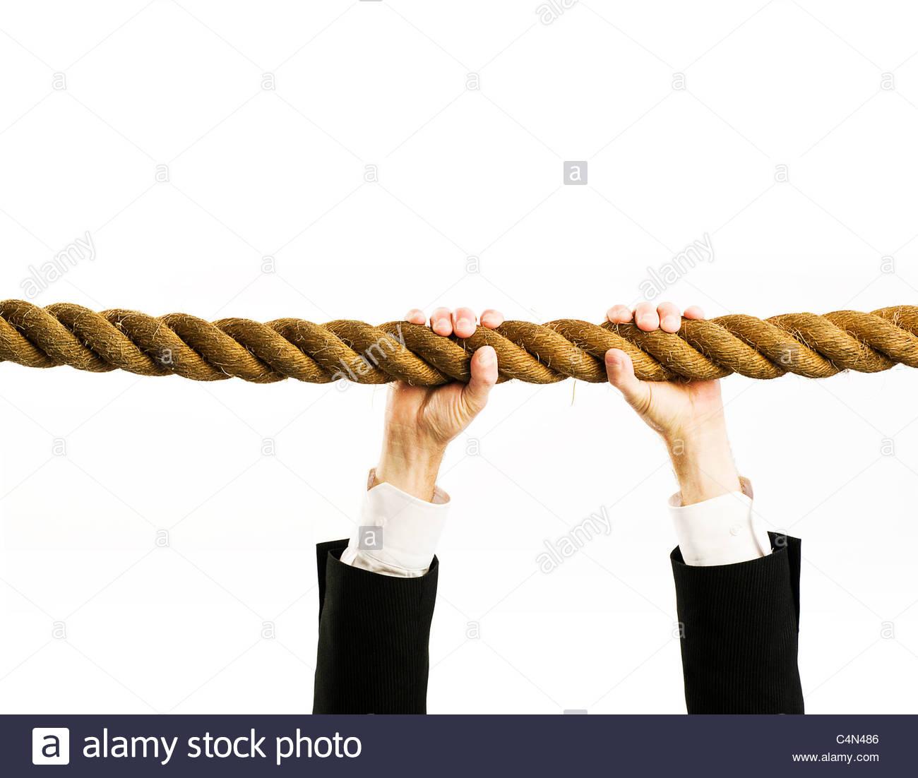 Seil greifen Stockfoto, Bild: 37343718 - Alamy