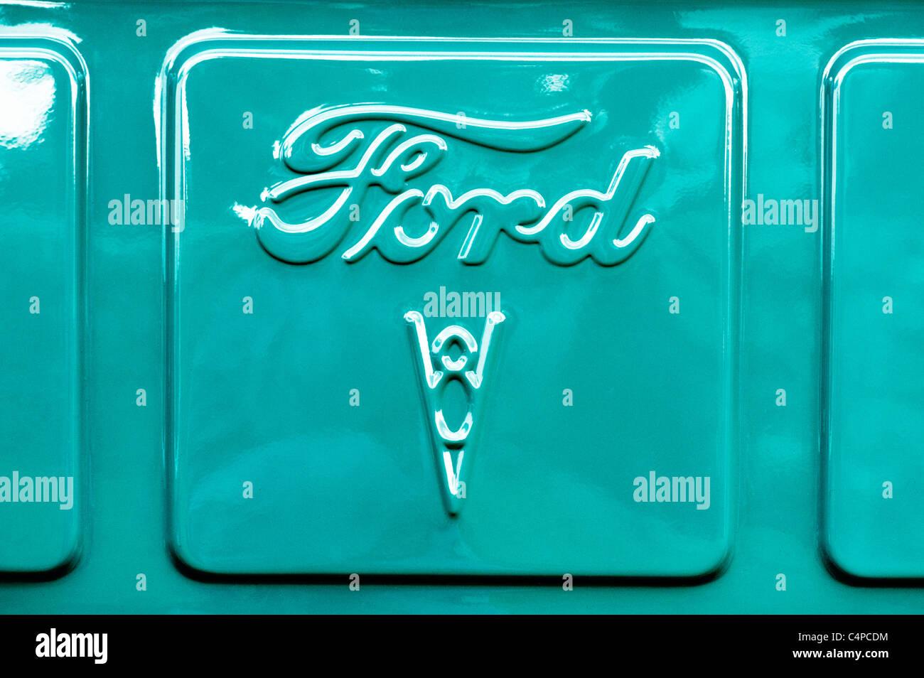 Ford V8 Hotrod benutzerdefinierte Pick-up LKW-detail Stockbild