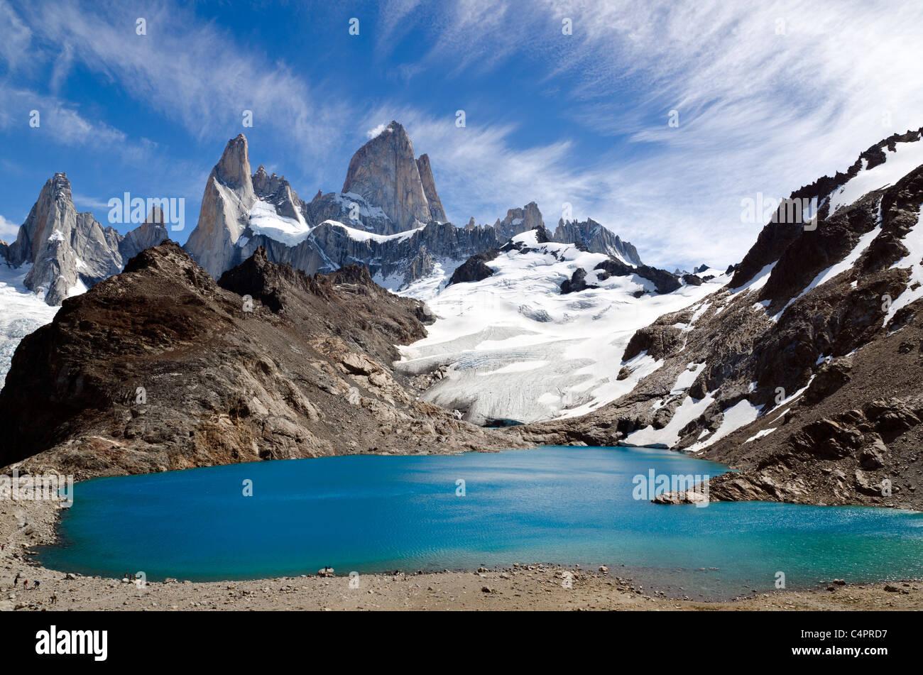 Torre Los Cerros, Nationalpark Los Glaciares, Patagonien, Argentinien Stockbild