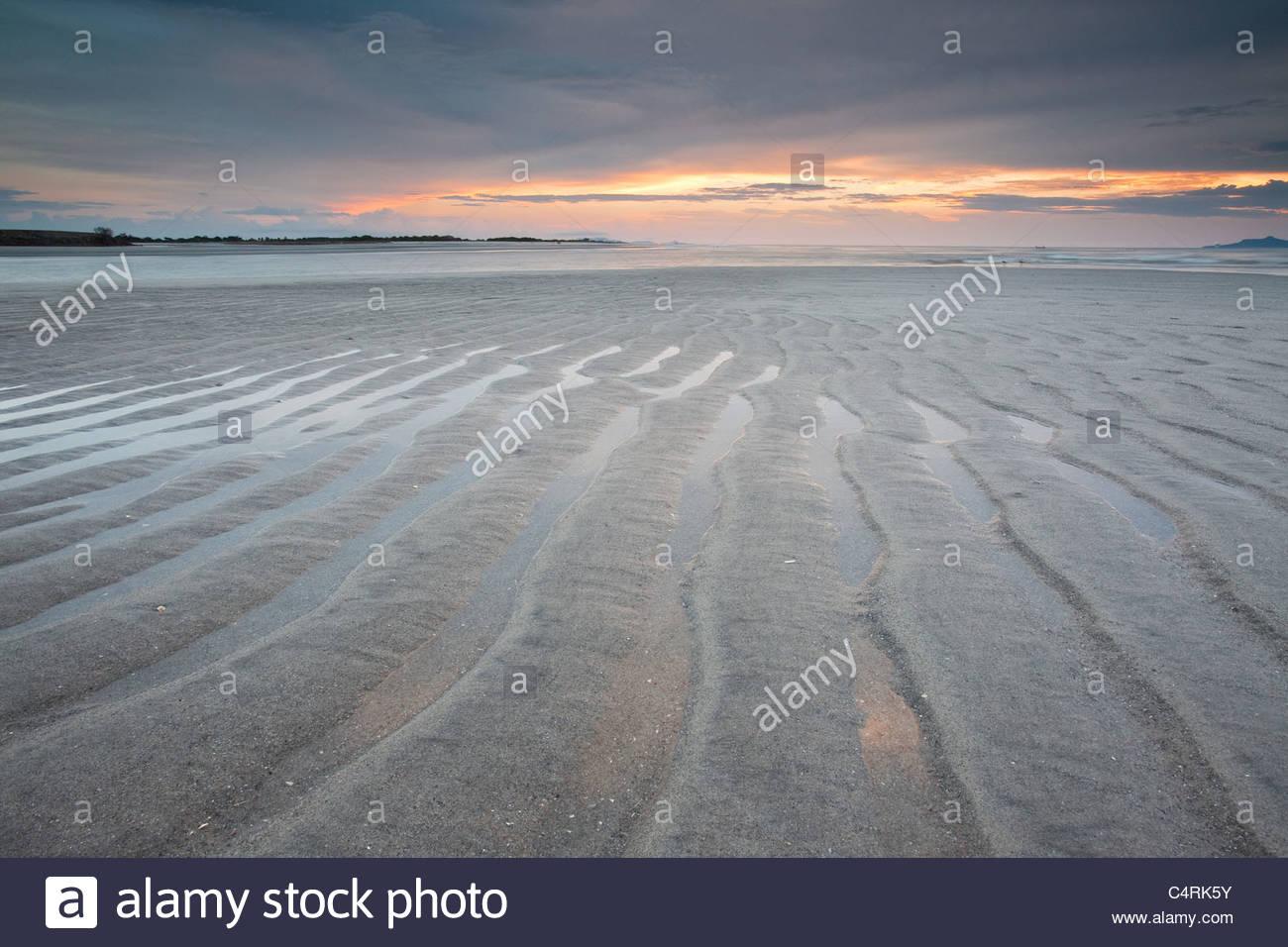 Tagesanbruch Ebbe und Flut bei Punta Chame, Pazifikküste, Provinz Panama, Republik von Panama. Stockbild