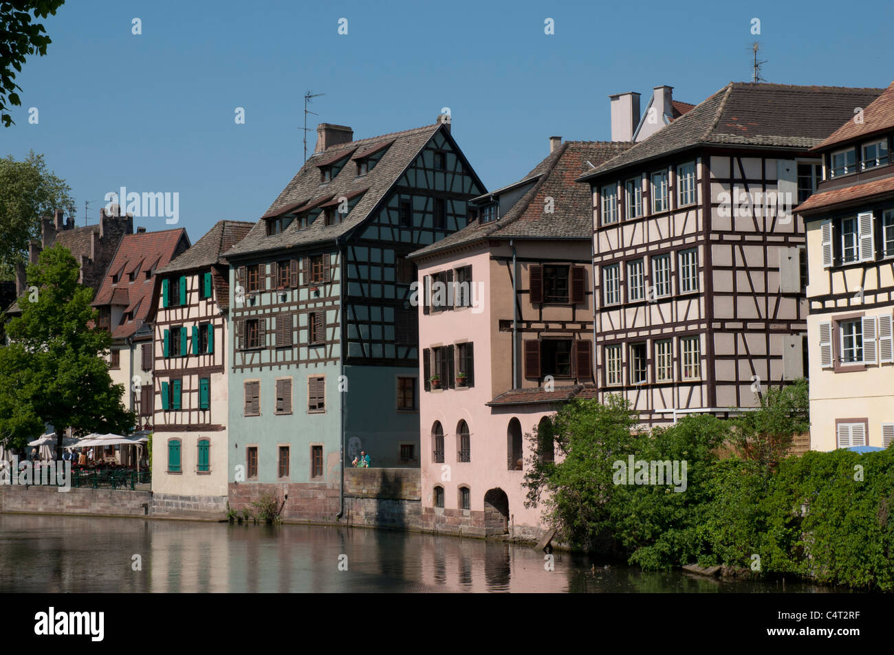 fachwerkh user im stadtteil petite france stra burg elsass frankreich europa stockfoto bild. Black Bedroom Furniture Sets. Home Design Ideas