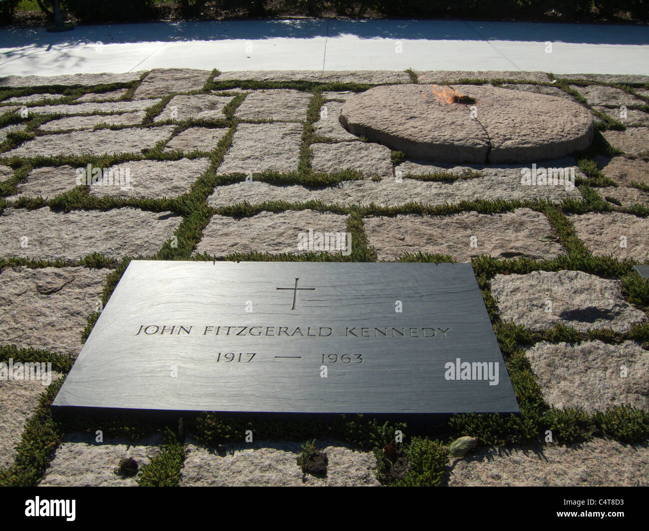 Washington Dc Arlington Friedhof Grab Von John Fitzgerald Kennedy
