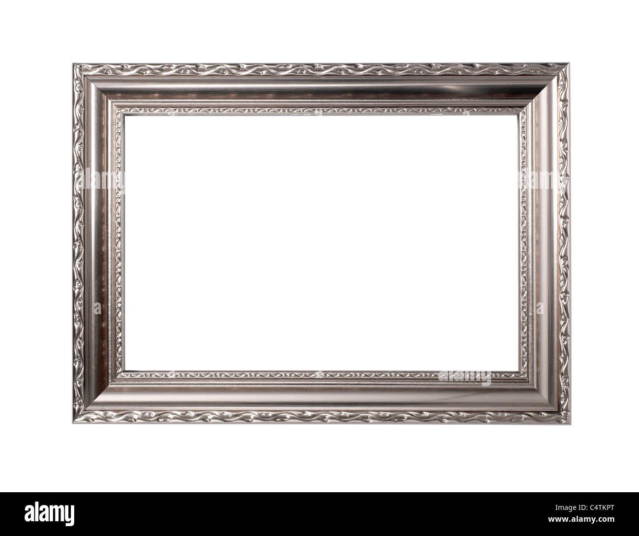 Silber Bilderrahmen Stockbild